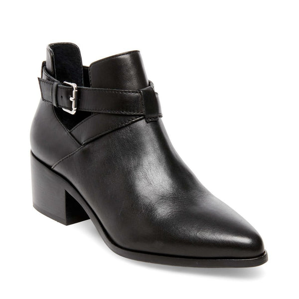 DEFIANT BLACK LEATHER - Steve Madden