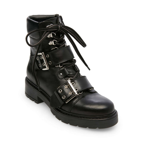 FIGHTER BLACK LEATHER - Steve Madden