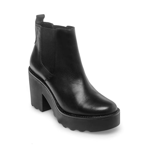 GRETTA BLACK LEATHER - Steve Madden