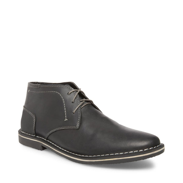 HARKEN BLACK LEATHER - Steve Madden