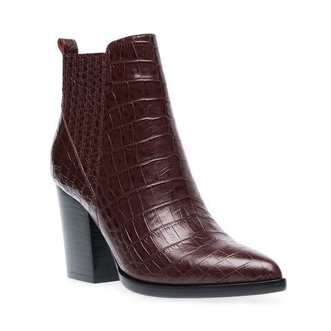 JUSTINA BURGUNDY CROCODILE