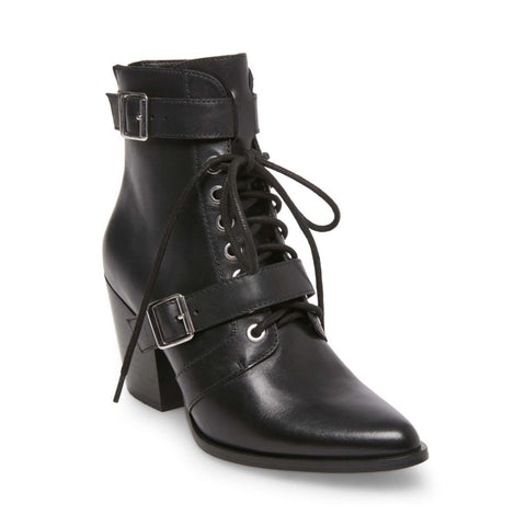 PATTERSON BLACK LEATHER - Steve Madden