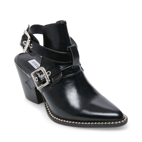 POWERED BLACK LEATHER - Steve Madden