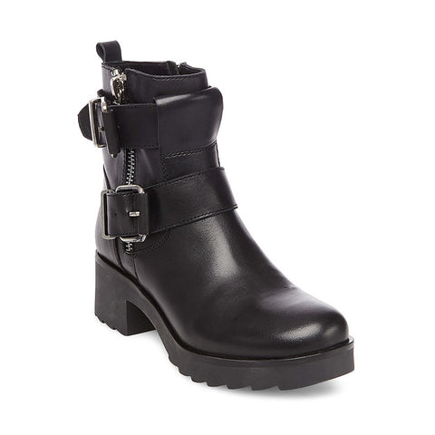 ROSTER BLACK LEATHER - Steve Madden