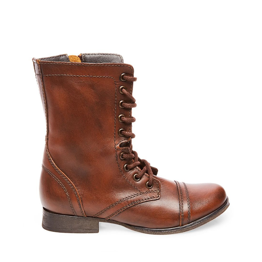 sale lace up in buying now TROOPA BROWN LEATHER – Steve Madden