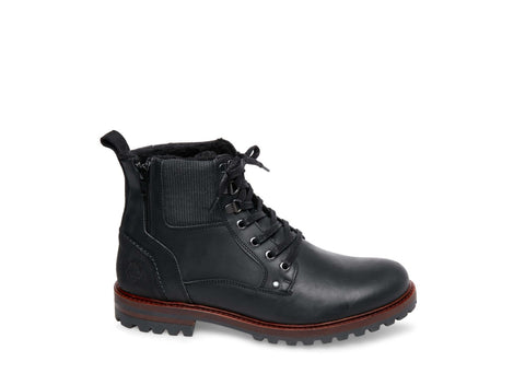 ALDER BLACK LEATHER - Steve Madden