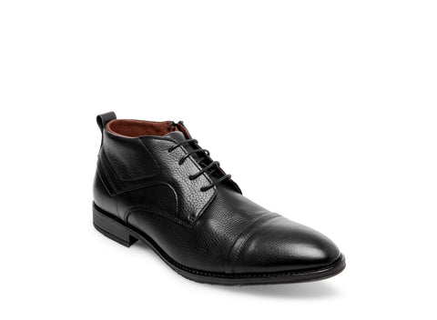 NORMAN BLACK LEATHER - Steve Madden