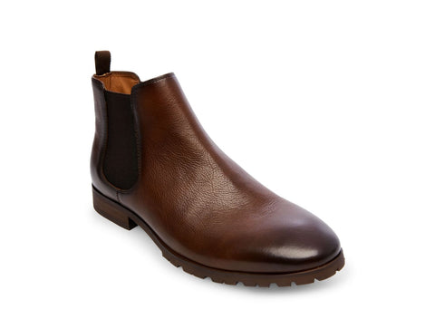STOW BROWN LEATHER - Steve Madden