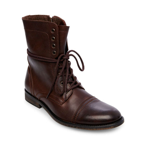 812832fa9d96 ... TREK BROWN LEATHER - Steve Madden
