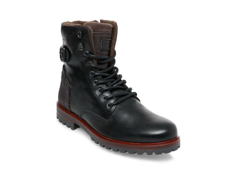 BACKERR BLACK LEATHER - Steve Madden