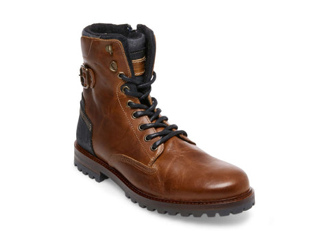 BACKERR COGNAC LEATHER - Steve Madden
