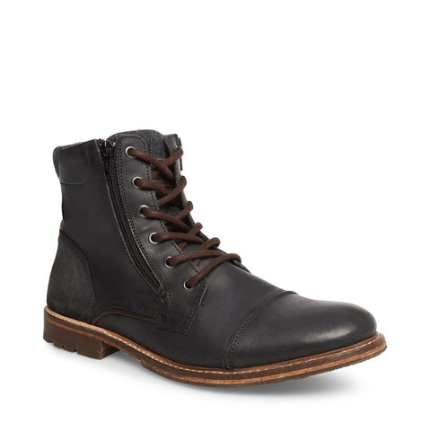 BRIDGES2 BLACK LEATHER - Steve Madden