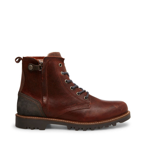 HOBART BROWN/RED LEATHER