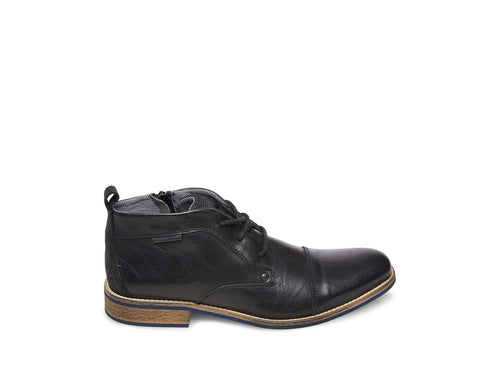KIPP BLACK LEATHER - Steve Madden