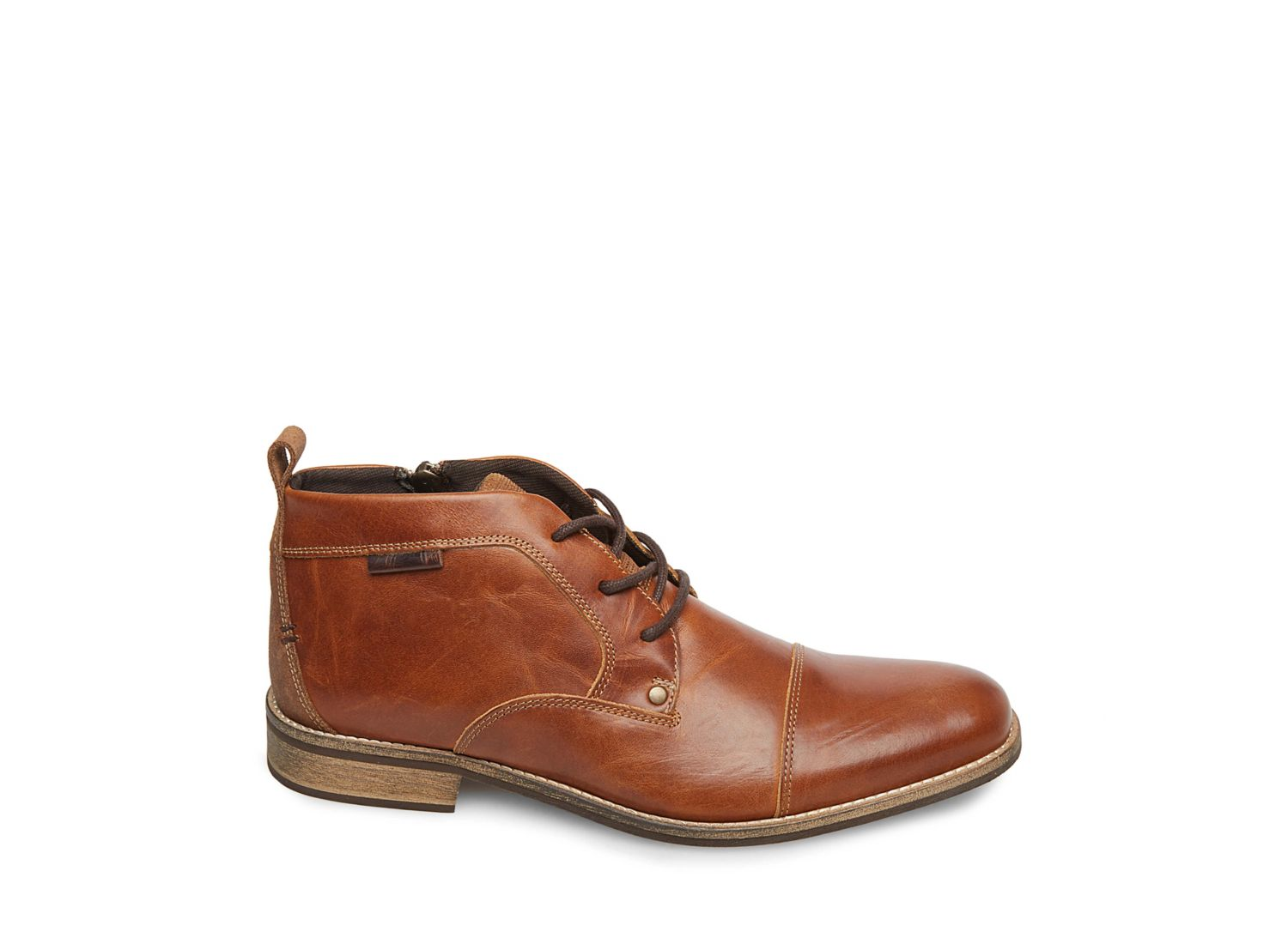 KIPP COGNAC LEATHER - Steve Madden