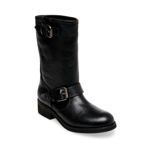LENORA BLACK LEATHER - Steve Madden