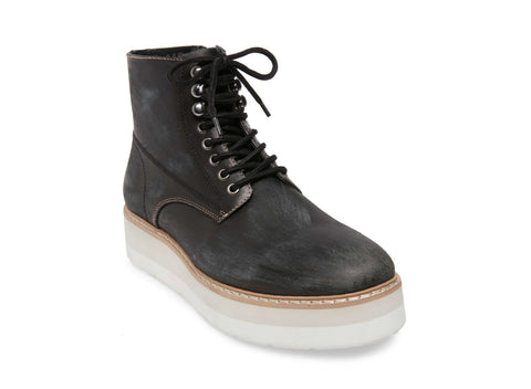SAYNE BLACK LEATHER - Steve Madden