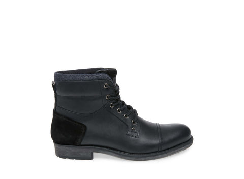 VESTRY BLACK LEATHER - Steve Madden