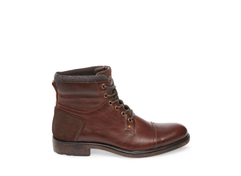 VESTRY BROWN LEATHER - Steve Madden