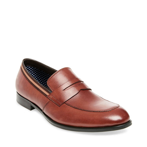 EDMAND COGNAC LEATHER - Steve Madden