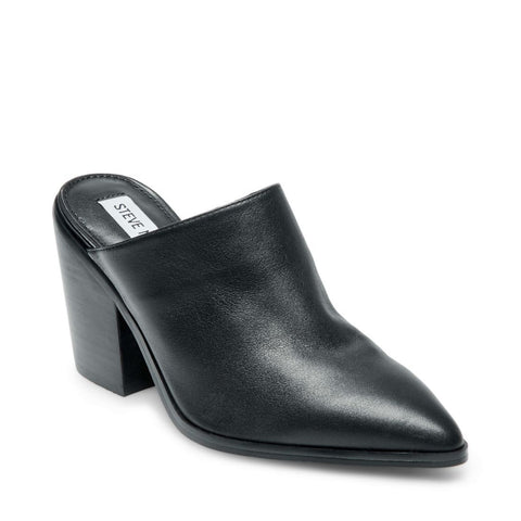 SAVINA BLACK LEATHER - Steve Madden