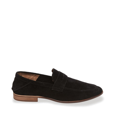SLICED BLACK SUEDE