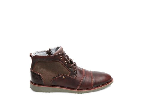STEEL BROWN/RED LEATHER - Steve Madden