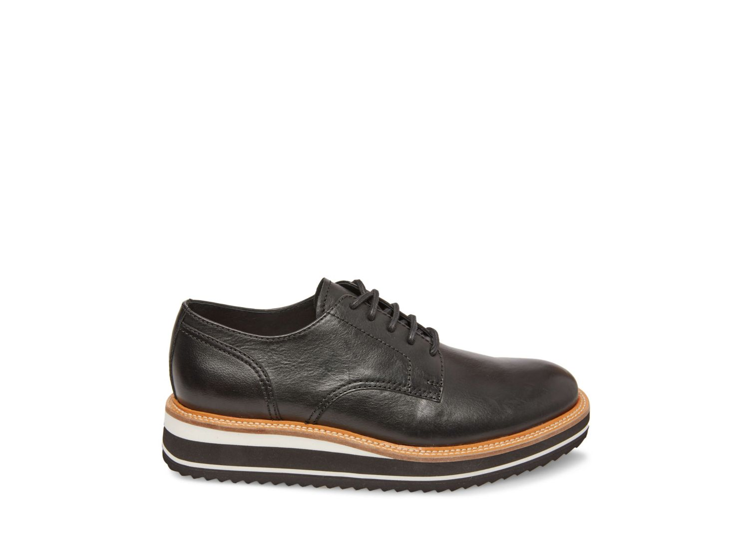 SUFRAGET BLACK LEATHER - Steve Madden