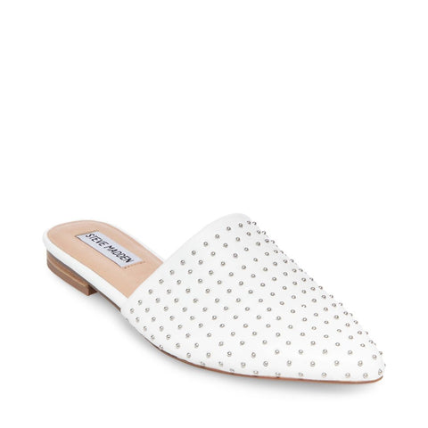 TRACE-S WHITE WITH STUDS - Steve Madden