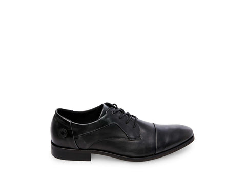 AQUA BLACK LEATHER - Steve Madden