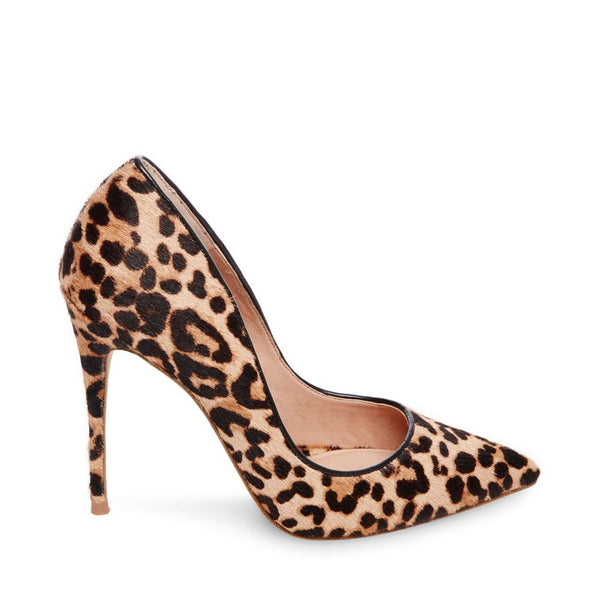 8b249be44ab Steve Madden pony hair pointed pumps Genuine calf hair with a brown