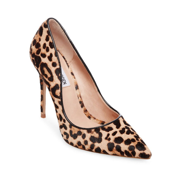 7d02bb3d524 Steve Madden pony hair pointed pumps Genuine calf hair with a brown