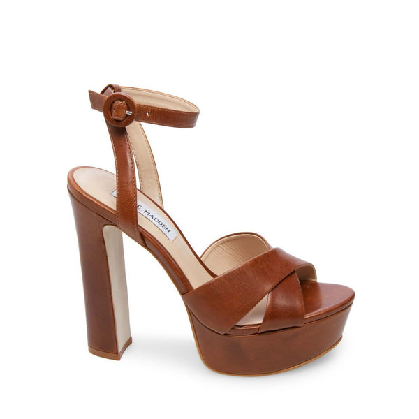 MARTINA COGNAC LEATHER - Steve Madden