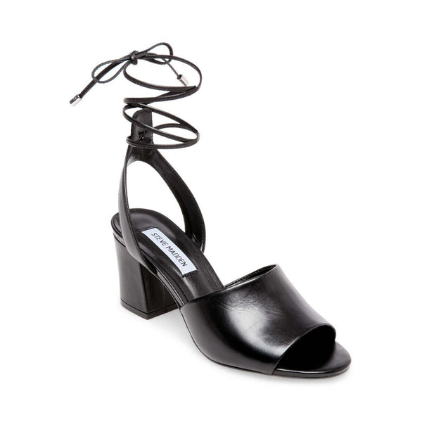 MAURA BLACK LEATHER - Steve Madden