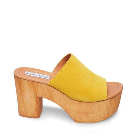PLAYDATE YELLOW SUEDE - Steve Madden