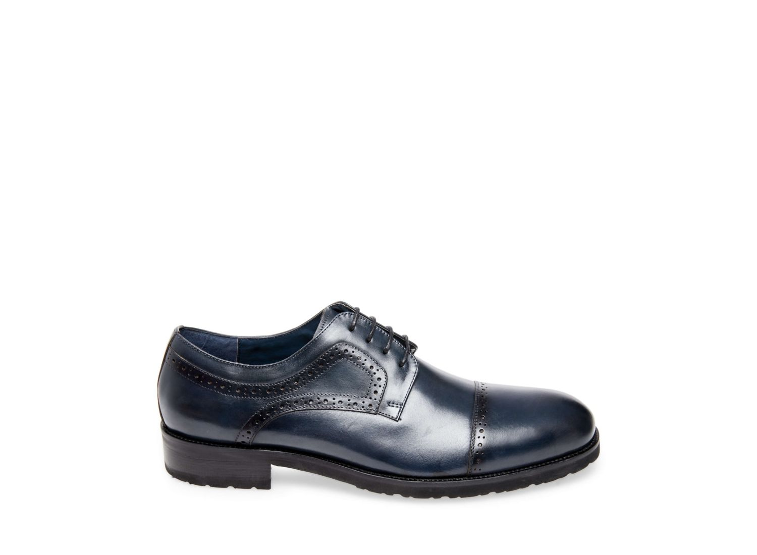 WEBBER NAVY LEATHER - Steve Madden