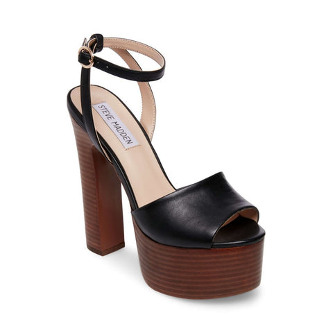 YOUTHFUL BLACK LEATHER - Steve Madden