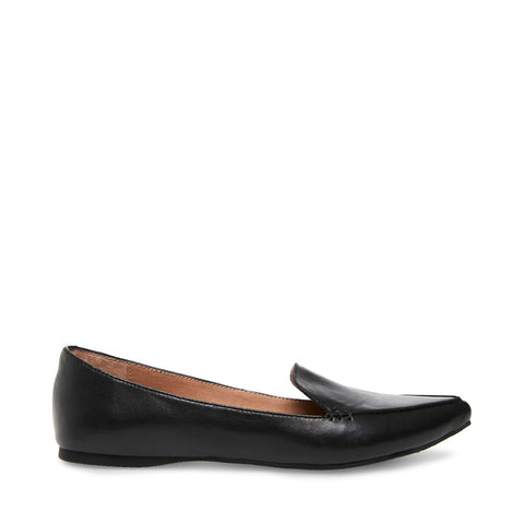 FEATHER BLACK LEATHER - Steve Madden