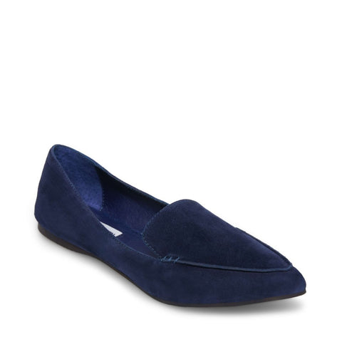 FEATHER NAVY SUEDE
