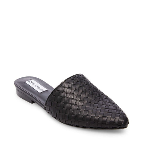 TIMID BLACK LEATHER - Steve Madden