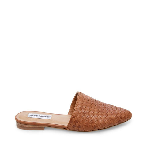 TIMID COGNAC LEATHER - Steve Madden