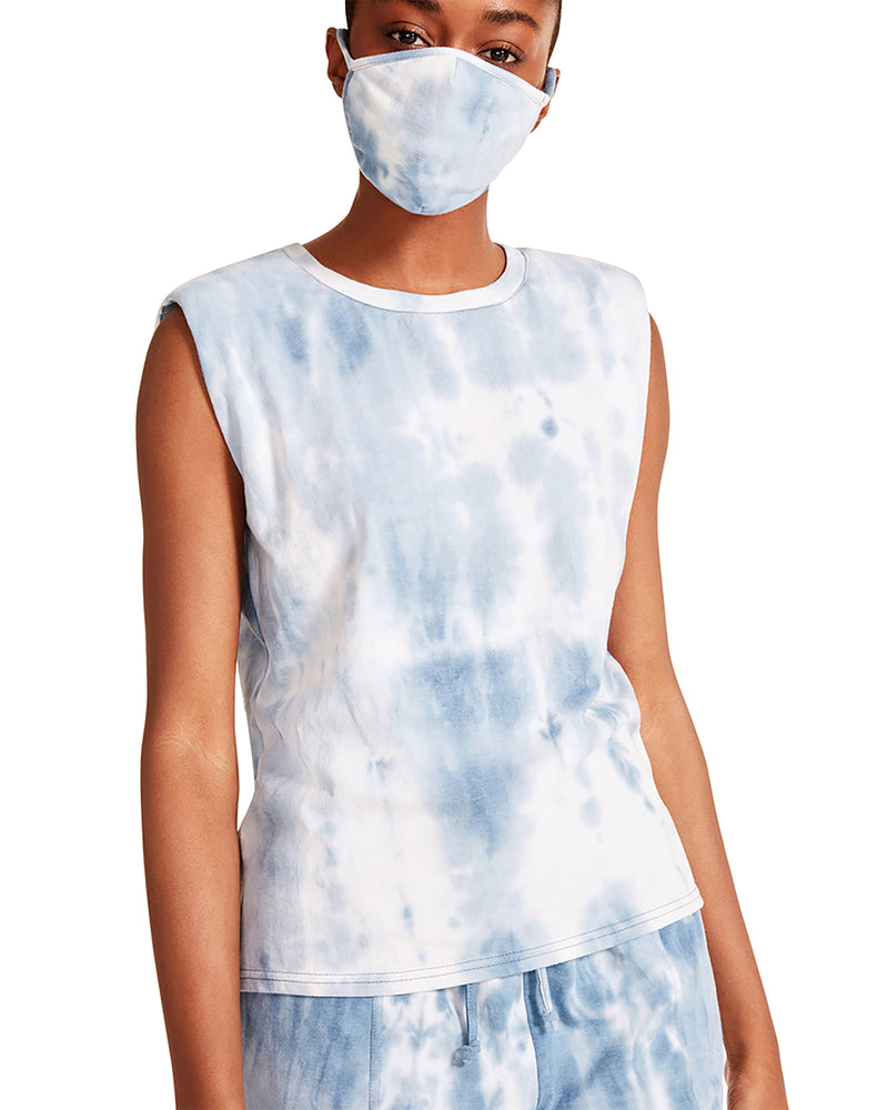 TIE-DYE TANK & MASK SET BLUE MULTI
