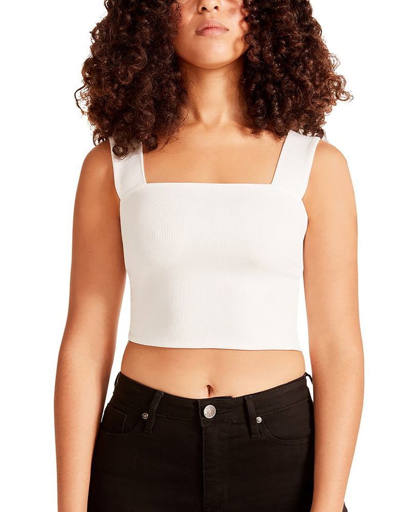 CRISS CROSS CROPPED TOP WHITE