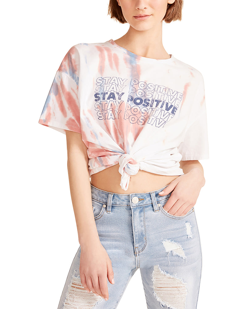 TIE-DYE GRAPHIC TEE PINK MULTI