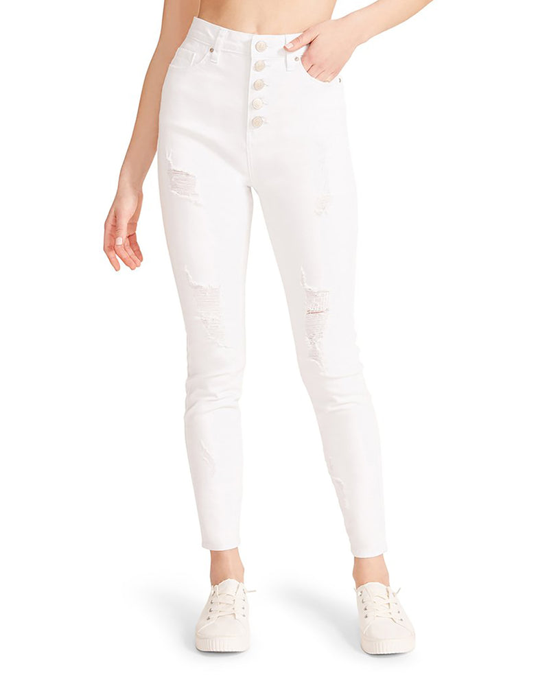 ICON HIGH RISE SKINNY WHITE
