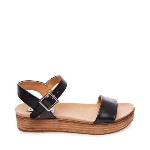 AIDA BLACK LEATHER - Steve Madden