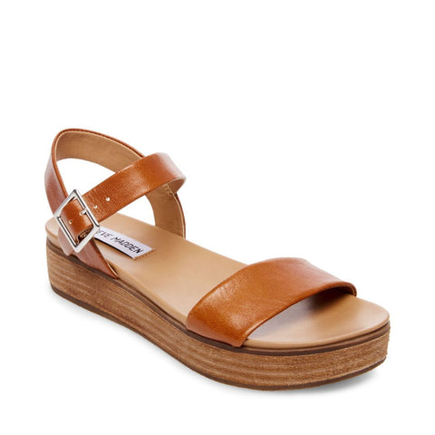 AIDA COGNAC LEATHER - Steve Madden
