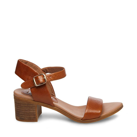 APRIL COGNAC LEATHER - Steve Madden