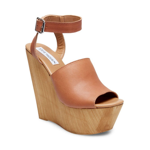 BRIDGIT COGNAC LEATHER - Steve Madden