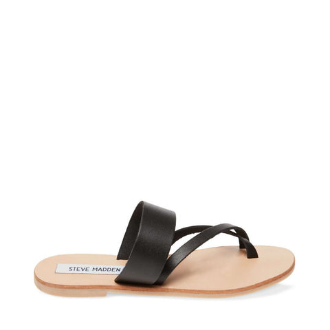 HANNAH BLACK LEATHER - Steve Madden